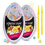 Flavouroom - Juego de 200 cápsulas prémium mixtas   Filtro de sabor mixto DIY para un sabor inolvidable a sabor, incluye caja para guardar las bolas aromáticas Click