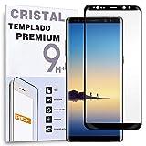 REY Protector de Pantalla Curvo para Samsung Galaxy Note 8 / NOTE8, Negro, Cristal Vidrio Templado Premium, 3D / 4D / 5D