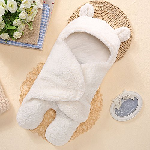 Y56 Baby Sleeping Bag Wrap Blanket Universal Baby Cute Newborn Infant Baby Boy Girl Swaddle Photography Prop for 0-12 Months with Free Toy