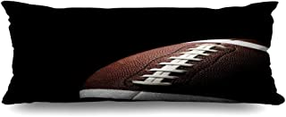 DIYCow Body Pillows Covers Flying Football On White Black Sports Recreation Nobody Cushion Case Pillowcase Home Sofa Couch Rectangular Size 20 x 54 Inches Pillowslips