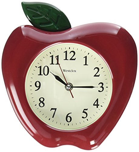 Westclox RA37340 3-Dimensional Apple 10&quot Wall Clock, Multicolor