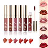 Beauty Glazed Matte Liquid Lipstick Makeup Set Long Lasting Matte Finish Waterproof Lightweight Easy to Remove