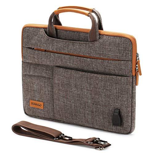 DOMISO 15-15,6 Zoll Wasserdicht Laptop Tasche Aktentasche Tragetasche Schultertasche für 15.6