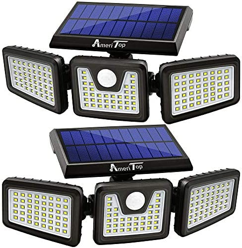 Solar Lights Outdoor AmeriTop 128 LED 800LM Wireless LED Solar Motion Sensor Lights Outdoor product image
