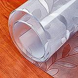 LIUJIU Mantel compostable y biodegradable, rollo de mesa transparente desechable con cortador, cumple con el medio ambiente, reciclable, 80 cm