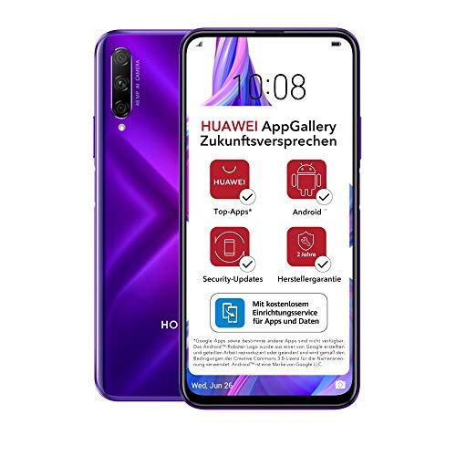HONOR 9X PRO Dual-SIM Smartphone - Phantom Purple (6,59 Zoll Bildschirm, 256 + 6GB, Android 9.0 AOSP ohne Google Play Store, EMUI 9.1) + 48MP Triple-Kamera + 16MP Frontkamera – Deutsche Version