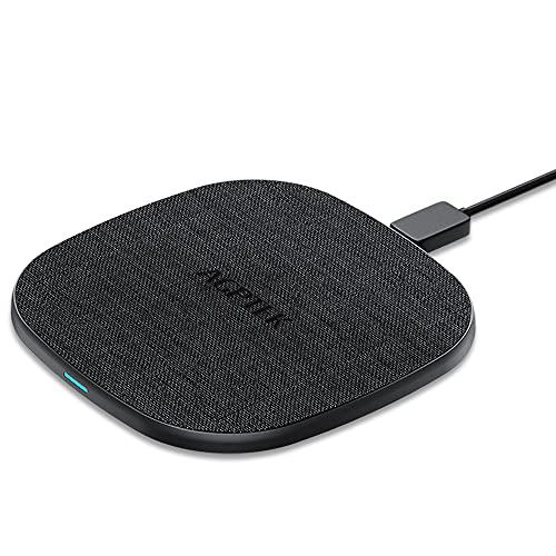 Handy Schnellladegerät Kabellos 10W / 7.5W / 5W, USB C, Fast Wireless Qi Ladestation 7,5W für iPhone 8/X/XS/XR, Induktive Schnellaufladen Drahtlos 10W für Samsung note5/8/S9/S9+/S8/ S8+/S7 Schwarz