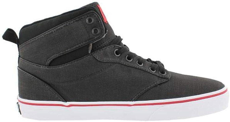 Vans herrar Atträ High Top, skor, svart  röd, M M M USA  upp till 60% rabatt