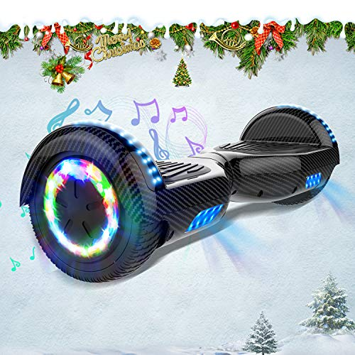 "HITWAY Hoverboard, 6,5"" LED Lights Elektro Scooter mit APP Funktion, Elektro Self Balance Board Hover E-Scooter mit Bluetooth Lautsprecher, Self Balancing Scooter für Kinder"