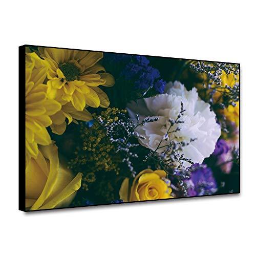 LPaWD Pastelkleur Wall Art Bloemen Canvas Schilderij Botanische Print Natuur Poster Nordic Decoratie Home Woonkamer Home Art Decoratie Muurschildering A1 50x70cm