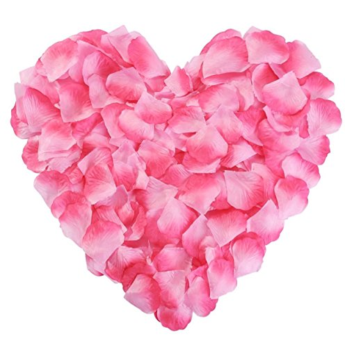 Pink Rose Petals Silk Flower Fake for Romantic Wedding Proposal Decorations 2000PCS (Pink)