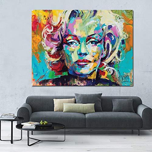Messer Ölgemälde Marilyn Monroe Leinwanddruck auf Leinwand Großformatiges Leinwand-Poster für Wohnzimmerwand Cuadros A 60x90cm