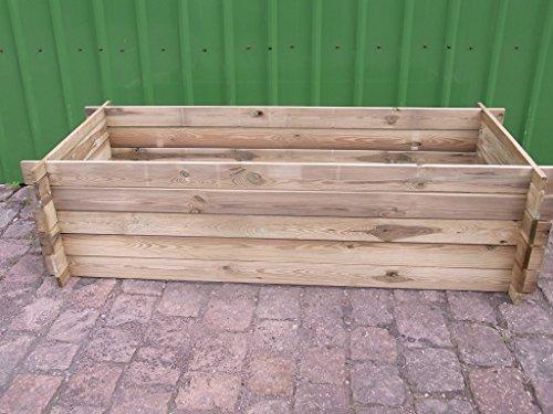 BIHL Stabiler Holzkomposter Hochbeet 170 x 65 x 52 cm massiv
