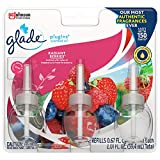 A fresh burst of fruit and sugary Magnolia say yes in bright pink Plug in the new, completely re-designed most adjustable warmer for up to 150 days of continuous diffused fragrance Glade Radiant berries PlugIns Scented Oil freshens rooms with long-la...