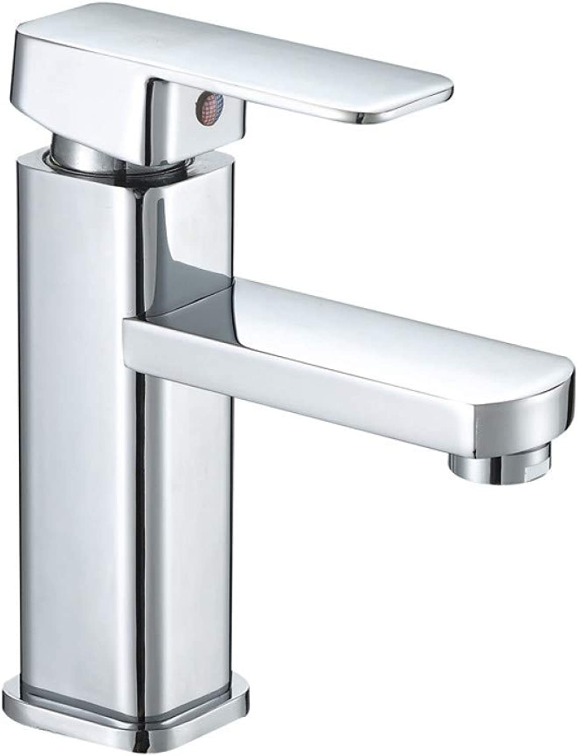 L22LW Faucet Galvanised Square Single Hole Wash Basin Cold Water Tap Square Basin Mixer Taps Bathroom Cabinet