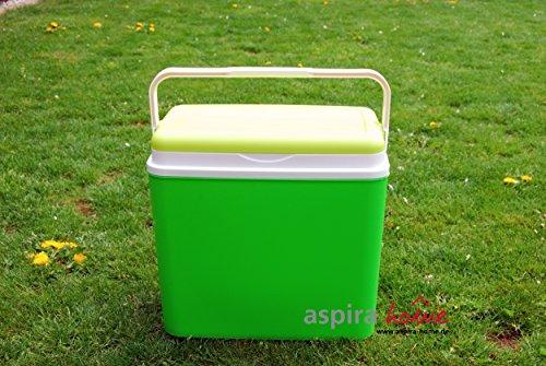 Adriatic Kühlbox 24 Liter Kühltruhe Getränkebox Isolierbox Kühlen Cooler Box Kühltasche (Grün)