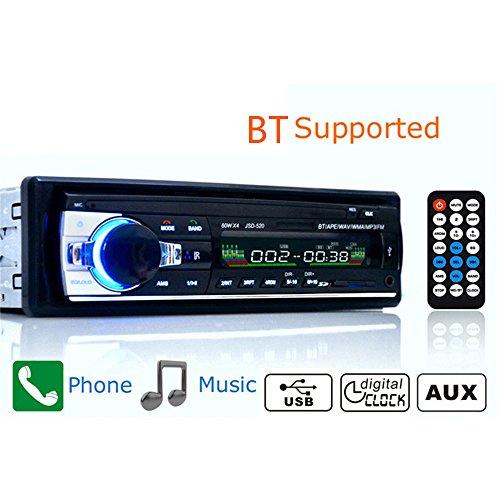 KKmoon Auto-radio MP3 Multifunctionele BT voertuig auto stereo audio speler receiver indash FM AUX Input WMA WAV MP3-speler met SD/USB-aansluiting