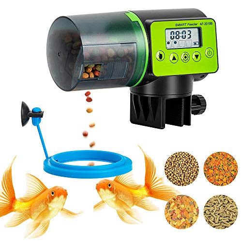 Automatic Fish Feeder, Vacation Fish Feeder, Moisture-Proof Electric Auto Fish Feeder, Digital Fish...