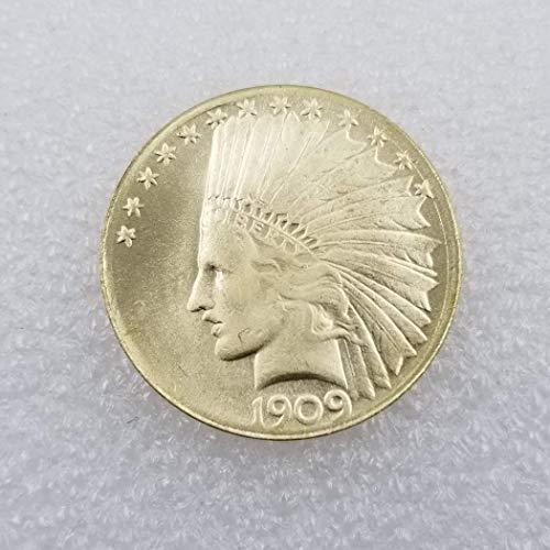 DDTing 1909 US-Lifty-Münze – Alte Münze zum Sammeln – Old Original Morgan Dollar – Unzirkulierter Zustand GoodService