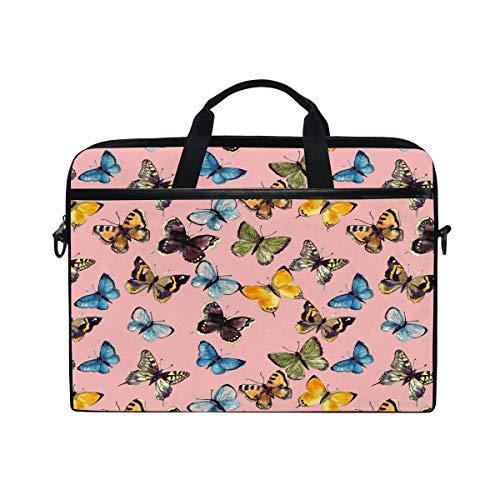 HaJie - Funda para ordenador portátil con estampado de mariposas de colores...