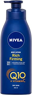 NIVEA Q10 Plus C Rich Firming & Moisturising Body Lotion for Dry Skin, enriched with Powerful CoEnzyme Q10 & Vitamin C. Moisturiser for Noticeably Firmer Skin, 400ml