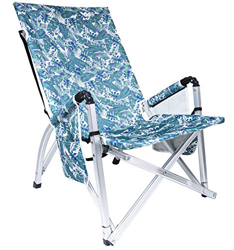GOOSO Lawn Chair - Portable Beach Chair for Camping Concert Lawn Chair, Lightweight Portable Folding Aluminum Chair, Easy Carry with Belt and No Need Any Assembly