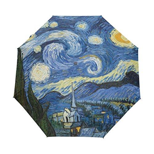 ALAZA Pintura de la Noche Estrellada de Van Gogh Aceite Automóviles Viajes...