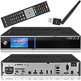 Gigablue UHD Quad 4K Ricevitore con 2 x DVB-S2 FBC e 1 x DVB-C/T2 (H.265) sintonizzatore satellitare incl. Babotech® WLAN Stick