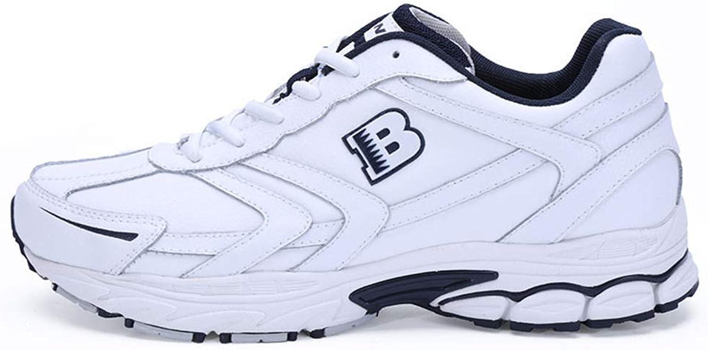 ZHRUI Men Running shoes Outdoor Sport Jogging Walking Lace Up Male Athletic shoes (color   White, Size   8=42 EU)