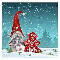最新の5DDIYダイヤモンド塗装キット、DIYクリスマスシリーズフルドリルラウンドダイヤモンド塗装キット家の壁の装飾のためのアートクラフト(12 * 16インチ),C