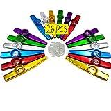 Best Kazoos - Fartime 26Pcs Metal Kazoos With 20Pcs Kazoo Flute Review