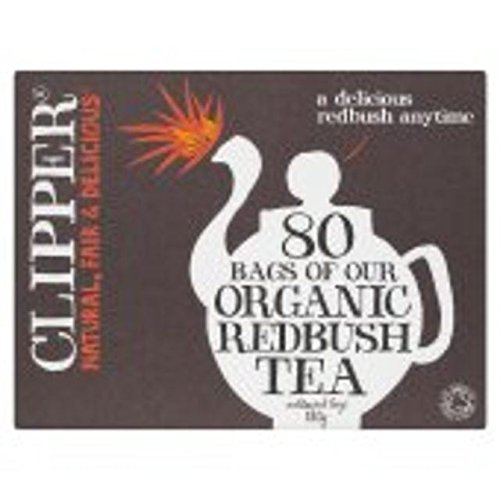 Clipper Influsion Redbush Orgánica 80 Por Paquete (Paquete de 6)