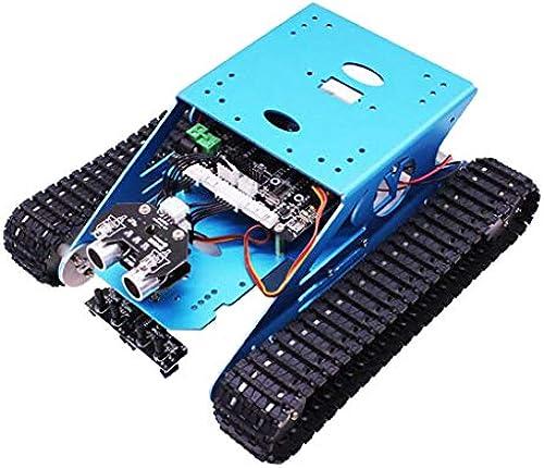F Fityle DIY Robot Tank Chassis Kit Mit Blautooth 4.0 Modul Aluminium-Kunststoff-Tracks