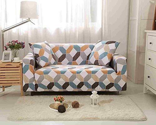 YULINGSTYLE Elastische Sofabezug Baumwolle All-Inclusive Couchbezug F¨¹R Wohnzimmer 1/2/3/4 Sitz Stretch Couch Sofabez¨¹Ge L-Form Ecksofa Sofa¨¹Berwurf NO.4