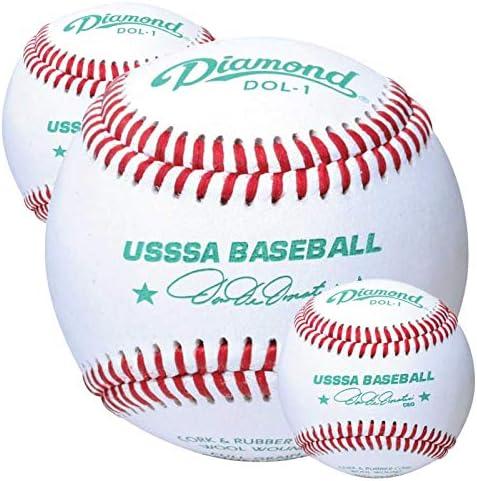 Rods Diamond Sports Baseballs Leather DOL 1 USSSA Three 3 Dozen Case product image