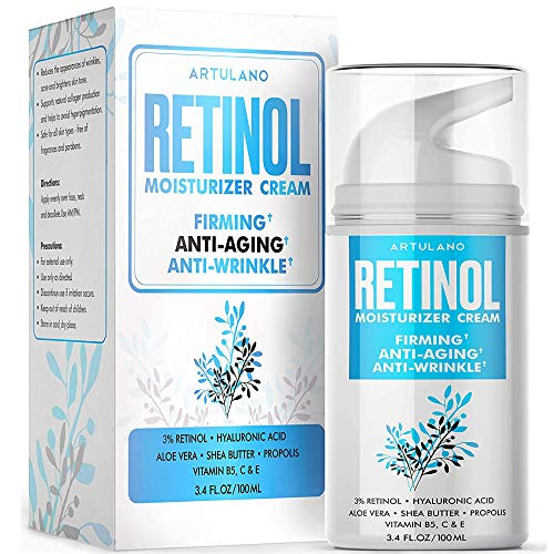 Anti-Aging Face Moisturizer for Women - Best Retinol Cream for Face with Hyaluronic Acid - Anti-Wrinkle & Moisturizing Effect for Day & Night Use, 3.4 oz.