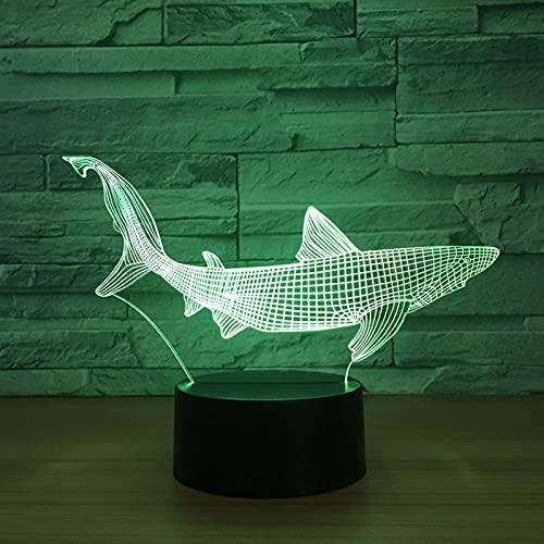 ZBHW Nuevo TBARE 3D LED Herramientas de Pesca Dentro de la lámpara de Mesa de Pescado Decoración para el hogar Party 7 Colores Cambiando la Noche Luz de Noche Diezuelo Detalle Luz