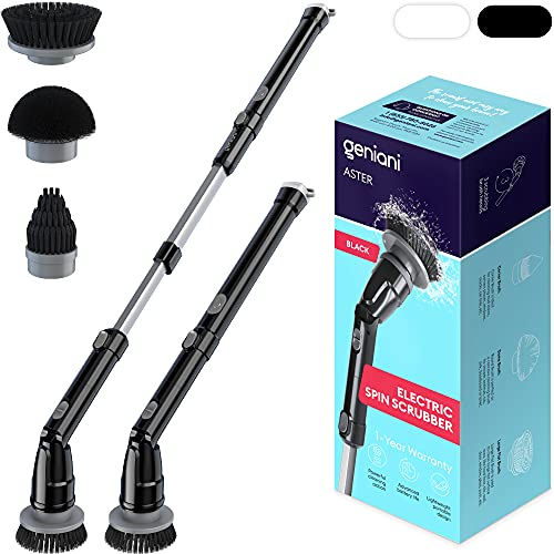 GENIANI Electric Spin Scrubber - 360 Cordless Powerful...