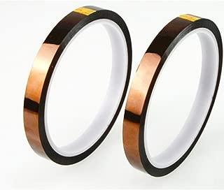 ポリイミド絶縁耐熱テープ (幅10mm、長さ30m) 2本セット電子工作の必需品電子基板の金メッキエッジコネクタ 保護に