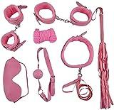 ZPDM Unter den Bed Restraints 7 Piece Set-Starke und dauerhafte übungsbänder-geeignet für Männer und Frauen 4 Farben,Pink