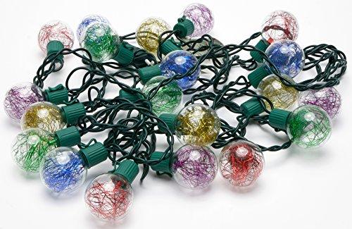 Led Lichterkette Weihnachten Lametta 5,5 m 20 Kugeln Bunt Led Weihnachtsbeleuchtung Fenster Weihnachtsdeko Lichterkette Weihnachtsbaum