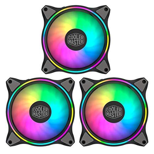 EWAT Ventilador de refrigeración de CPU de doble bucle, 3 en 1 MF120 120 mm Dual Loop 5V/4Pin Direccionable RGB Iluminación CPU Ventilador Refrigerador Radiador Agua Reemplaza Ventiladores