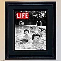 LIFE誌●ビンテージフォト●ビートルズ●≪BEATLES≫≪高級感ある重厚な額装が人気です≫ライフ アメリカ雑誌 1950年代 1960年代表紙柄 life ポスター