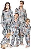 PajamaGram Fun Monopoly Matching Pajamas - Family PJs, Button-Front, Gray