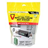 Victor M922 Fast-Kill Brand Ready-to-Use Refillable Mouse Station – 10 Blocks