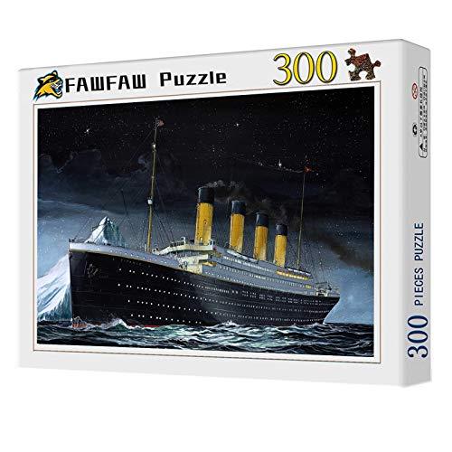 Puzzle Personalizado 300 Piezas, Titanic Passenger Ship En Noche Oscura Ensamblar Juguetes para Estimular Imaginaciones