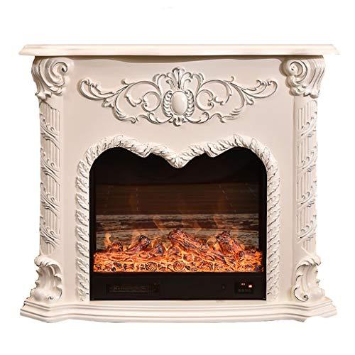 Elektro-Kamin-Set, 3D Dynamische Flammeneffekt, Heizung Elektro-Kamin Dekoration Schrank, Überhitzungsschutz 1500W
