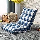 zcyg Puff Piso reclinable, Plegable Tatami Perezoso del sofá, cojín de Asiento con Respaldo Ajustable 5, Ideal como Leer, Ver, Video-Juegos (Color : B)