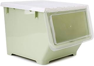 Boîte de Rangement Boîte De Rangement Jouet Empilable Transparent Oblique Windows Tronc Boîte Snack Boîte De Rangement Mén...