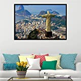 IFUNEW Leinwand Poster Bilder Rio De Janeiro Corcovado